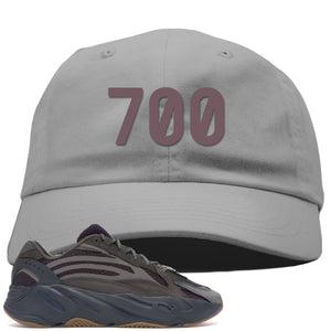 "Yeezy Boost 700 Geode Sneaker Hook Up ""700"" Light Gray Dad Hat"