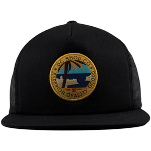 DC Mucker Black Trucker Mesh-Back Snapback Hat