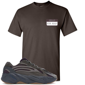 Yeezy Boost 700 Geode Sneaker Hook Up Hello My Name Is Hype Beast Pablo Dark Chocolate T-Shirt