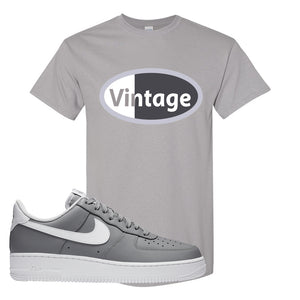 Air Force 1 Low Wolf Grey White T Shirt | Gravel, Vintage Oval