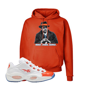 Question Low Vivid Orange Hoodie | Capone Illustration, Orange