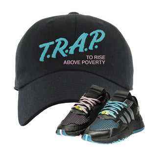 Ninja x adidas Nite Jogger Dad Hat | Trap To Rise Above Poverty, Black