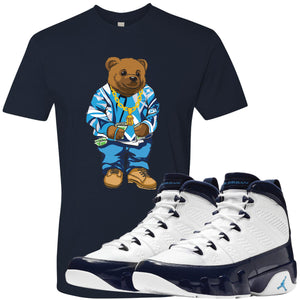 Match your pair of Jordan 9 UNC All Star Blue Pearl sneakers with this sneaker matching Jordan 9 UNC tee