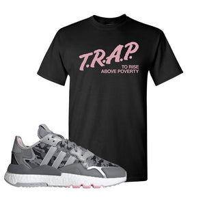WMNS Nite Jogger True Pink Camo T Shirt | Black, Trap to Rise Above Poverty