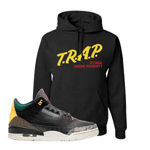 Air Jordan 3 Animal Instinct 2.0 Hoodie | Black, Trap To Rise Above Poverty