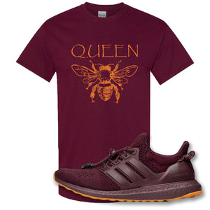 Queen Bee Maroon T-Shirt to match Ivy Park X Adidas Ultra Boost Sneaker