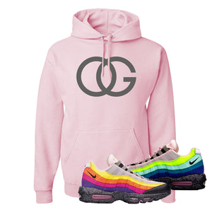 Airmax 95 '20 For 20' Sneaker Classic Pink Pullover Hoodie | Hoodie to match Nike Airmax 95 '20 For 20' Shoes | OG