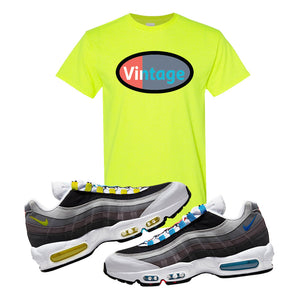Air Max 95 QS Greedy T Shirt | Safety Green, Vintage Oval