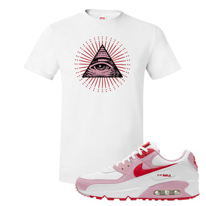 Air Max 90 Love Letter T Shirt | All Seeing Eye, White