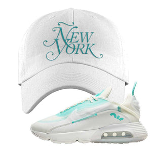 Air Max 2090 Pristine Green Dad Hat | White, New York