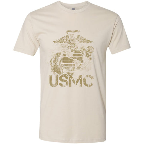 Standard Issue Distressed USMC Safari Grunt Life T-Shirt