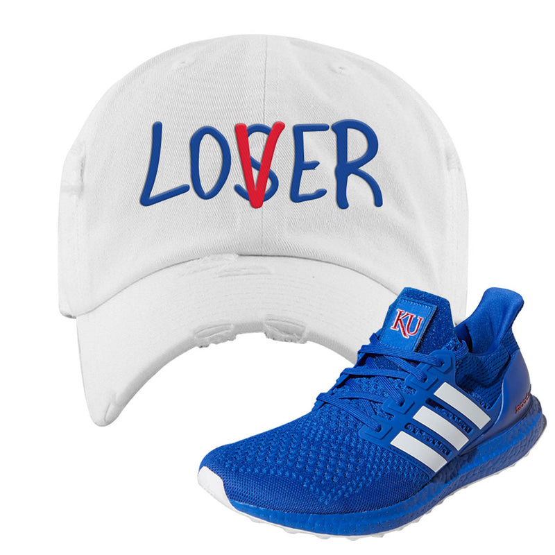 Ultra Boost 1.0 Kansas Distressed Dad Hat | Lover, White