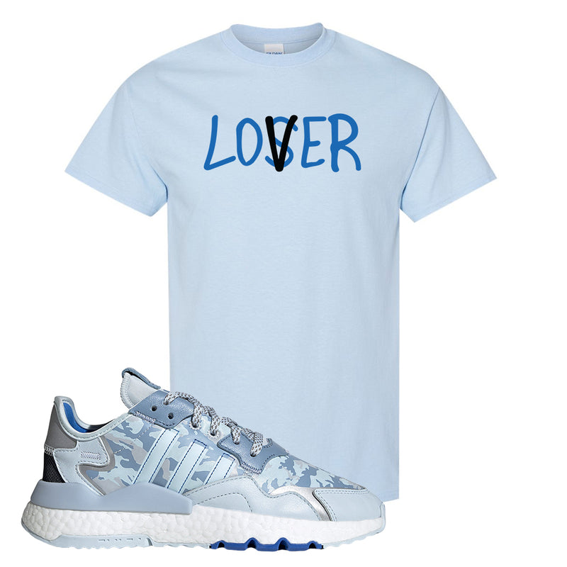 WMNS Nite Jogger Sky Tint Camo T Shirt | Light Blue, Lover
