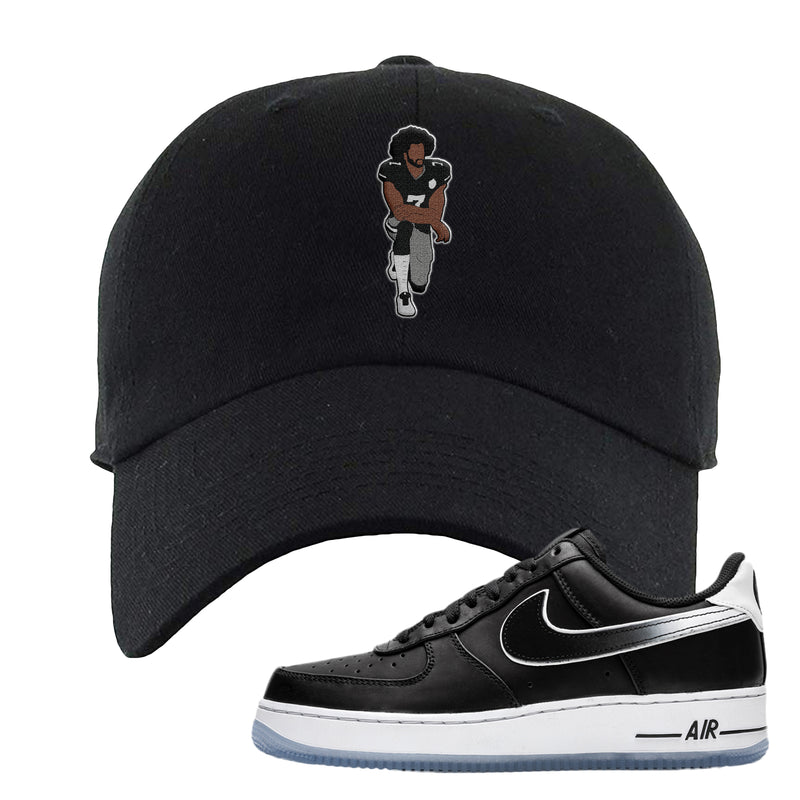Colin Kaepernick X Air Force 1 Low Dad Hat | Black, Kaepernick Fist Kneeling