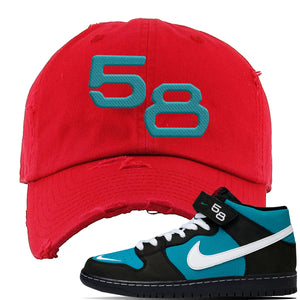 SB Dunk Mid Griffey Distressed Dad Hat | Red, 58