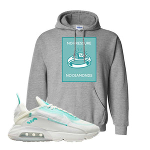 Air Max 2090 Pristine Green Hoodie | Sport Grey, No Pressure No Diamond