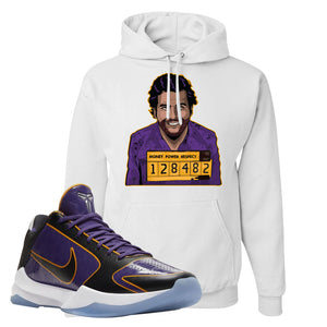 Kobe 5 Protro 5x Champ Hoodie | Escobar Illustration, White