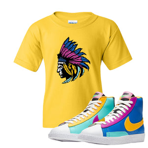 Blazer Mid Big Kids T Shirt | Daisy, Indian Chief