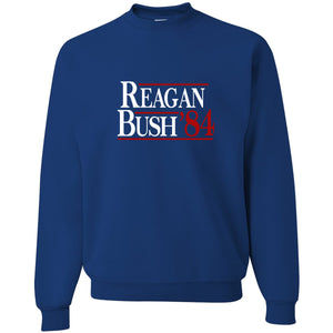 Standard Issue Reagan Bush '84 Royal Blue Grunt Life Crewneck Sweater
