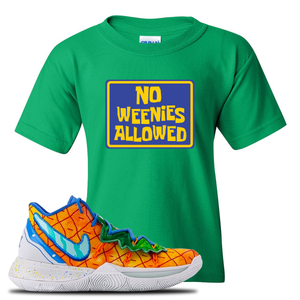 Kyrie 5 Pineapple House Kid's T-Shirt | Irish Green, No Weenies Allowed