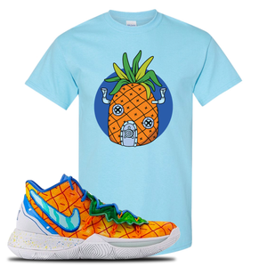 Kyrie 5 Pineapple House Pineapple House Sky Blue Sneaker Hook Up T-Shirt