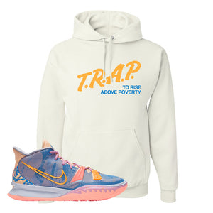Kyrie 7 Expressions Hoodie | Trap To Rise Above Poverty, White