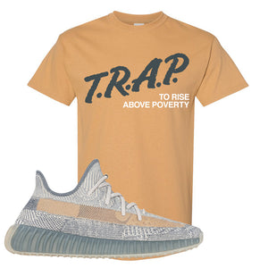 Yeezy Boost 350 V2 Israfil T Shirt | Old Gold, Trap To Rise Above Poverty