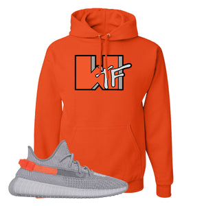 Yeezy Boost 350 V2 Tail Light Sneaker Burnt Orange Pullover Hoodie | Hoodie to match Adidas Yeezy Boost 350 V2 Tail Light Shoes | WTF
