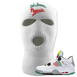 Jordan 4 WMNS Carnival Sneaker White Ski Mask | Winter Mask to match Do The Right Thing 4s | Sal's Famous Pizzeria