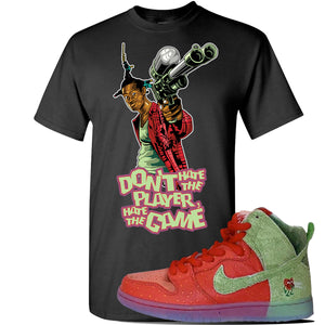 SB Dunk High 'Strawberry Cough' T Shirt | Black, Don't Hate The Player