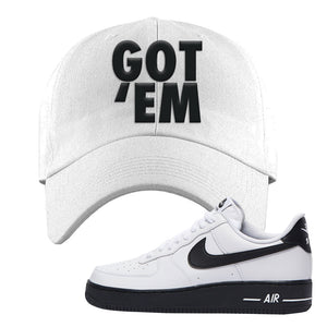 Air Force 1 Low White Black Dad Hat | White, Got Em