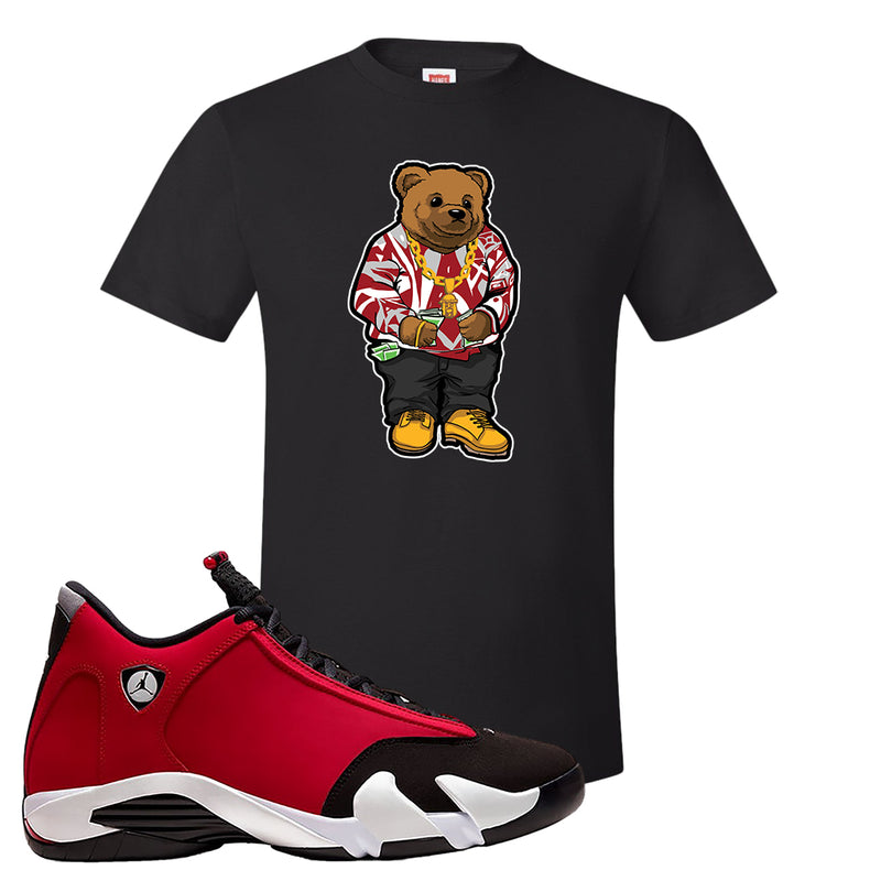 Air Jordan 14 Gym Red T Shirt | Black, Sweater Bear