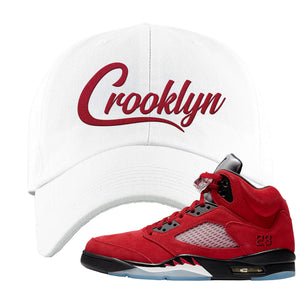 Air Jordan 5 Raging Bull Dad Hat | Crooklyn, White