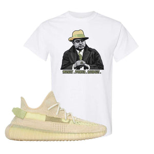 Yeezy Boost 350 V2 Flax T-Shirt | White, Capone Illustration