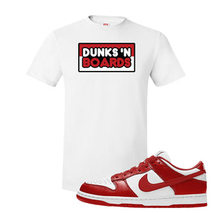 SB Dunk Low St. Johns T Shirt | Dunks N Board, White