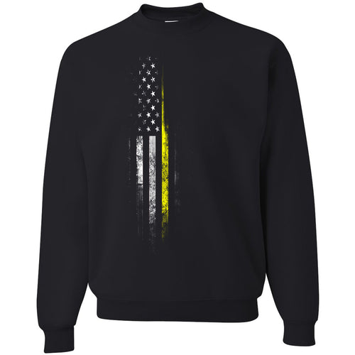 Standard Issue Yellow Lives Matter Distressed Black Grunt Life Crewneck Sweater