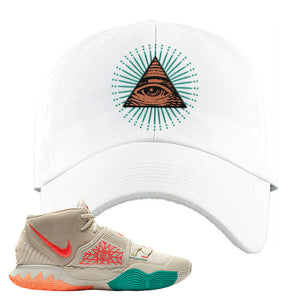 Kyrie 6 N7 Dad Hat | White, All Seeing Eye