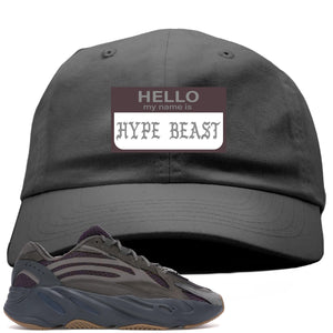 Yeezy Boost 700 Geode Sneaker Hook Up Hello My Name Is Hype Beast Pablo Gray Dad Hat