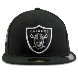 Oakland Raiders SuperBowl Victory Count Patch Black 59Fifty Fitted Cap