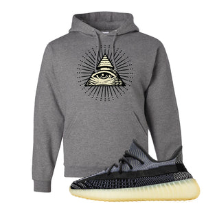 Yeezy Boost 350 V2 Asriel Carbon Pullover Hoodie | All Seeing Eye, Oxford