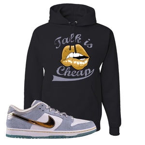 Sean Cliver x SB Dunk Low Hoodie | Talk Is Cheap, Black