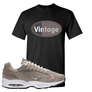 Air Max Triax 96 Grey Suede T Shirt | Vintage Oval, Black
