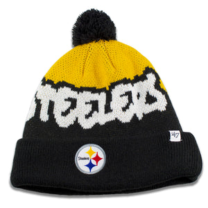 "Pittsburgh Steelers Youth Sized ""Underdog"" Knit Pom Winter Beanie"