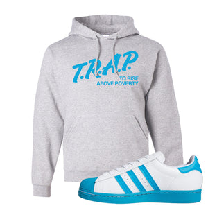 Adidas Superstar 'Aqua Toe' Hoodie | Ash, Trap To Rise Above Poverty