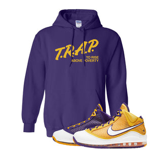 Lebron 7 'Media Day' Hoodie | Purple, Trap To Rise Above Poverty