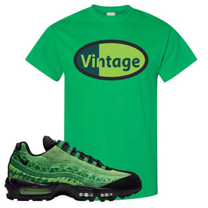 Air Max 95 Naija T Shirt | Vintage Oval, Irish Green