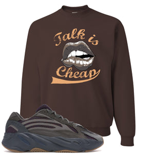 Yeezy Boost 700 Geode Sneaker Hook Up Talk Is Cheap Brown Crewneck Sweater