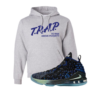 LeBron 17 Constellations Hoodie | Trap To Rise Above Poverty, Ash