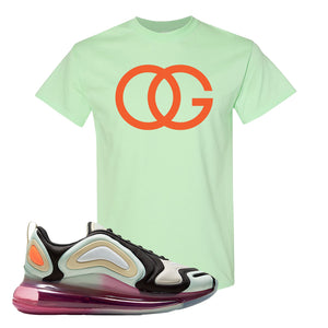 Air Max 720 WMNS Black Fossil Sneaker Mint Green T Shirt | Tees to match Nike Air Max 720 WMNS Black Fossil Shoes | OG