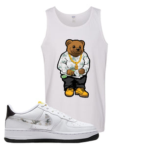 Air Force 1 Tank Top | White, Sweater Bear